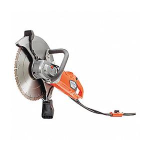 Electric handheld concrete saw