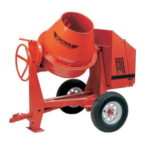Gas Cement Mixer, 9 CU Ft